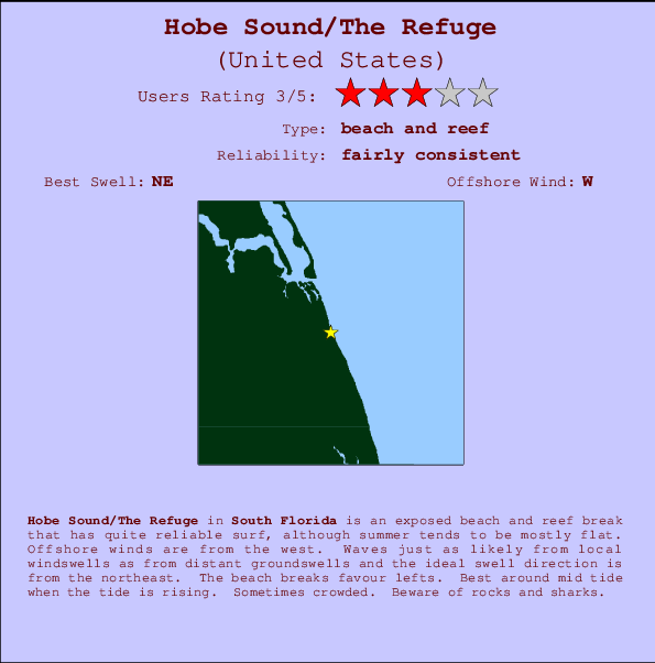 Hobe Sound/The Refuge Carte et Info des Spots
