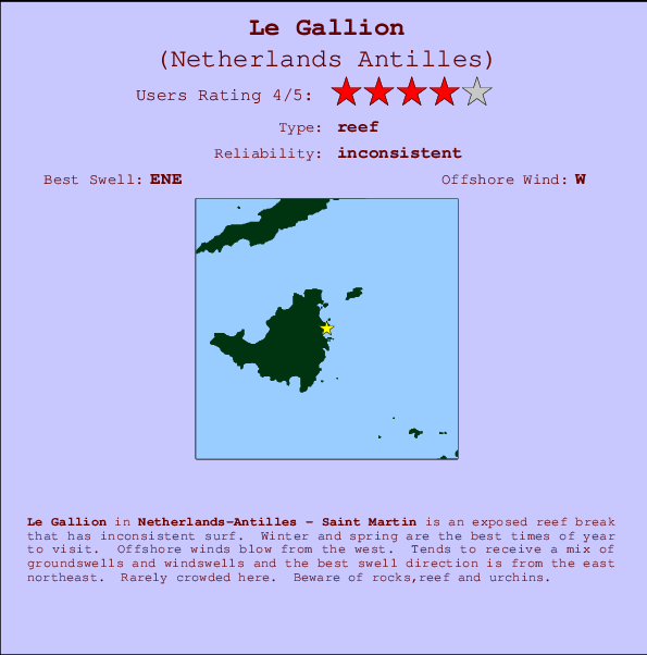 Le Gallion Carte et Info des Spots
