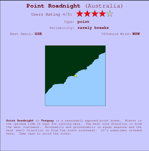 Point Roadnight Carte et Info des Spots