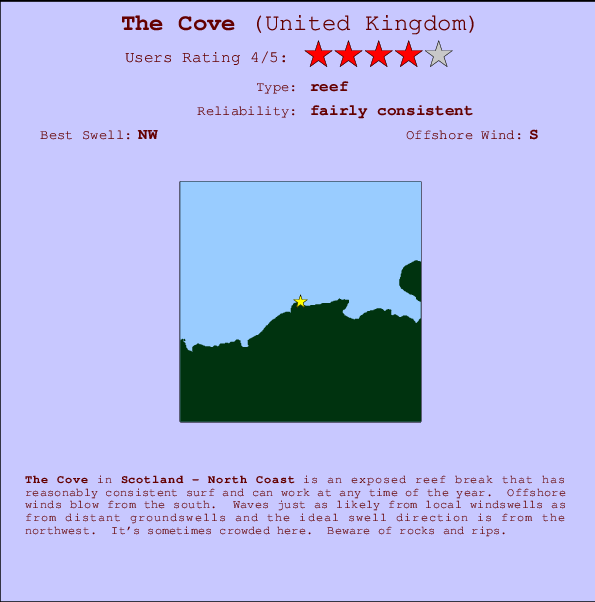 The Cove Carte et Info des Spots