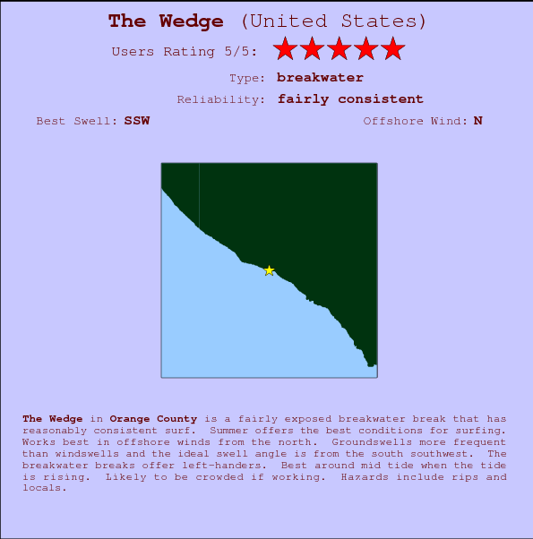 The Wedge Carte et Info des Spots