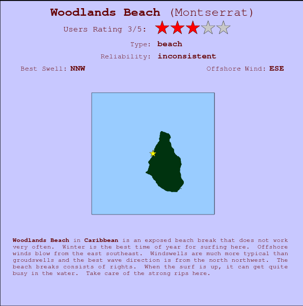 Woodlands Beach Carte et Info des Spots