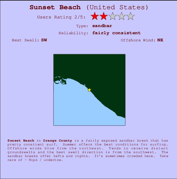 Sunset Beach Previsions De Surf Et Surf Report Cal Orange County Usa